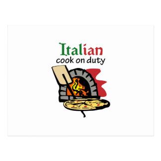 COCINERO ITALIANO DE SERVICIO TARJETAS POSTALES