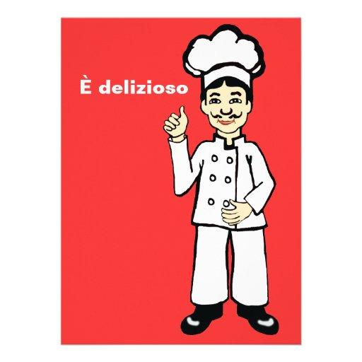 Cocinero italiano - delizioso de È Anuncio Personalizado