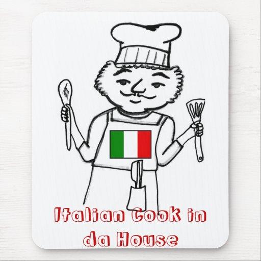 Cocinero italiano en casa de DA Tapetes De Ratones