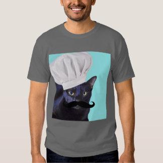 Cocinero italiano, gato negro remeras
