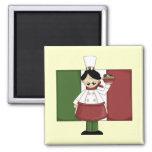 Cocinero italiano - personalizable imanes