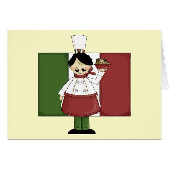 Cocinero italiano - personalizable tarjeta de felicitación