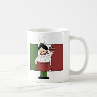 Cocinero italiano - personalizable taza básica blanca