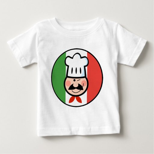 Cocinero italiano playera de bebé