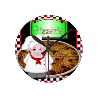 Cocinero Italiano Reloj Redondo Mediano