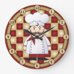 Cocinero italiano relojes de pared