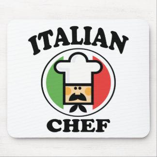Cocinero italiano tapetes de raton