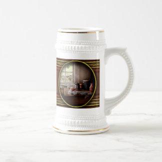 Cocinero - las tareas de la mañana taza de café