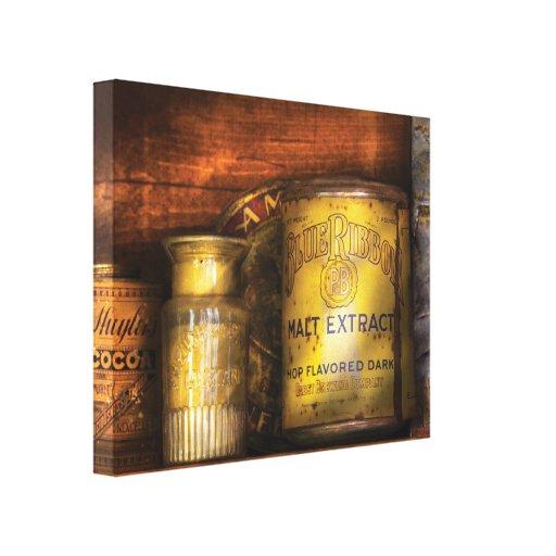 Cocinero - latas - extracto de malta de Blue Ribbo Lona Envuelta Para Galerias