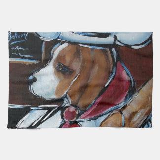 Cocinero lindo del beagle toallas de cocina