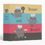 cocinero lindo del robot que cocina la carpeta de