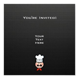 """Cocinero liso invitación 5.25"""" x 5.25"""""""