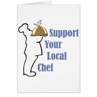 Cocinero local tarjeta de felicitación