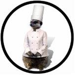 Cocinero Meerkat Esculturas Fotograficas