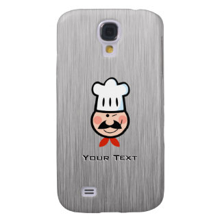 Cocinero; Metal-mirada cepillada Funda Para Galaxy S4
