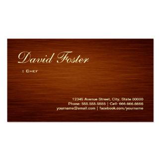 Cocinero - mirada de madera del grano tarjetas de visita