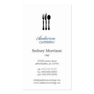Cocinero moderno/abastecimiento/restaurante de los plantilla de tarjeta de visita