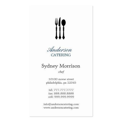 Cocinero moderno/abastecimiento/restaurante de los plantillas de tarjetas personales