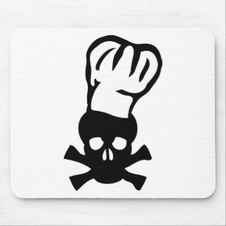 cocinero negro de la cabeza de los cocineros del c alfombrillas de raton