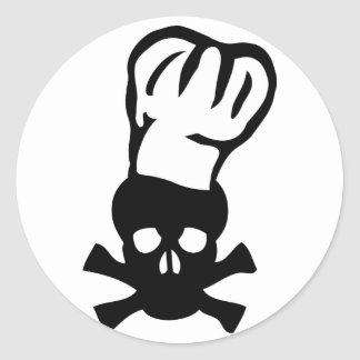 cocinero negro de la cabeza de los cocineros del pegatina redonda