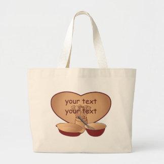 Cocinero o cocinero personalizado bolsa tela grande