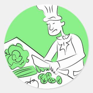 Cocinero orgánico pegatinas