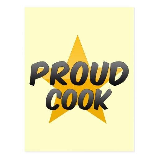 Cocinero orgulloso tarjetas postales