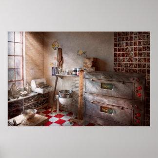 Cocinero - panadero - el horno del pan poster