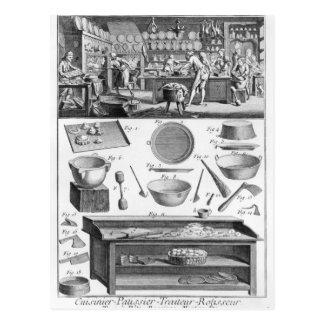 Cocinero, pastelero, abastecedor tarjeta postal