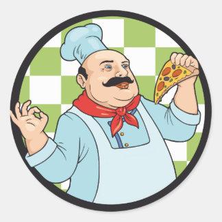 cocinero pegatina redonda