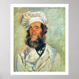 Cocinero Père Paul de Claude Monet Póster