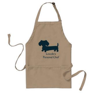 Cocinero personal del perro de la salchicha de delantal