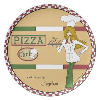 Cocinero personalizado de la pizza platos