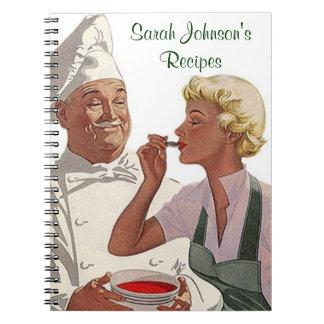 Cocinero personalizado vintage del libro de cocina spiral notebook
