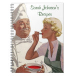 Cocinero personalizado vintage del libro de cocina libretas espirales