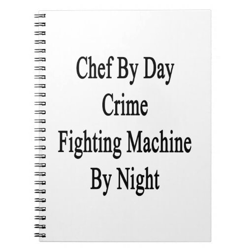 Cocinero por la máquina que lucha del crimen del d libros de apuntes