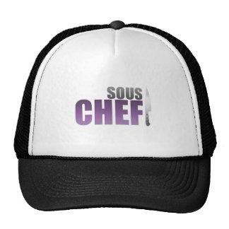 Cocinero púrpura de Sous Gorras De Camionero