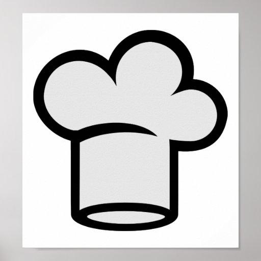 Cocinero que cocina el gorra posters