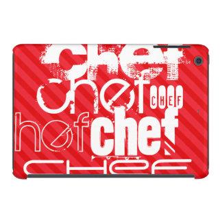 Cocinero; Rayas del rojo del escarlata Funda De iPad Mini