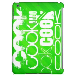 Cocinero; Rayas verdes de neón