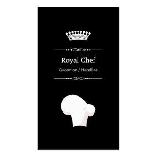 Cocinero real - blanco negro moderno profesional tarjetas de visita