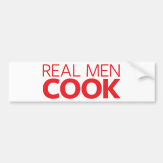 Cocinero real de los hombres pegatina para auto