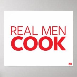 Cocinero real de los hombres póster