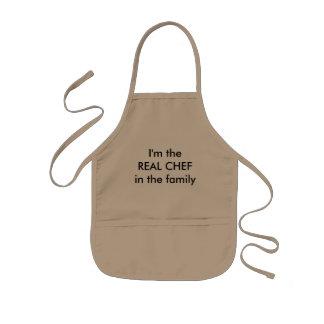 Cocinero real delantal infantil