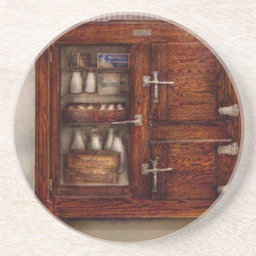 Cocinero - refrigerador - el pecho de hielo posavasos manualidades