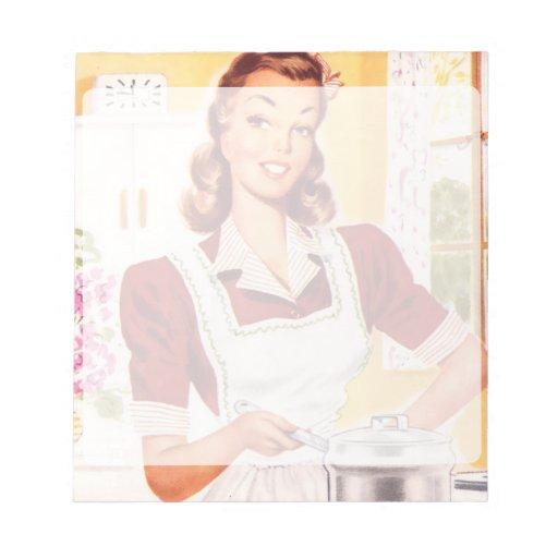 Cocinero retro de los años 50 blocs