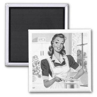 Cocinero retro imanes de nevera
