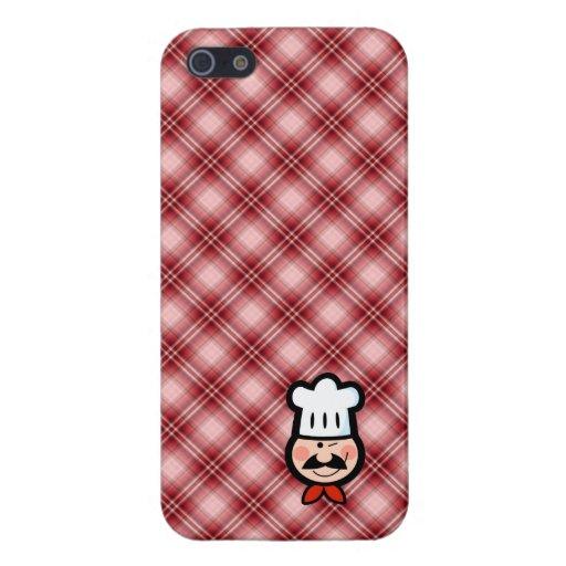 Cocinero rojo de la tela escocesa iPhone 5 cárcasa