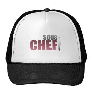 Cocinero rojo de Sous Gorros Bordados