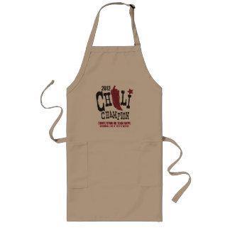 Cocinero rústico del chile del campeón delantal largo